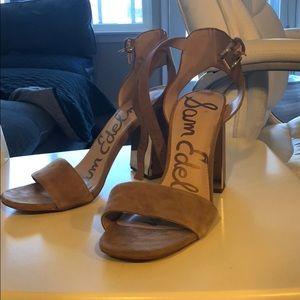 Sam Edelman block heels suede tan